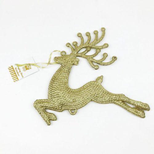 Hanging Reindeer Decoration Gold