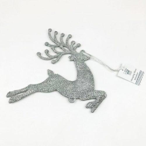 Hanging Reindeer Decoration Silver